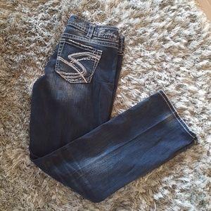 Silver Jeans Blue Jeans Suki Straight 34 X 31
